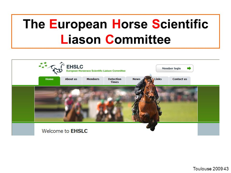 The European Horse Scientific Liason Committee