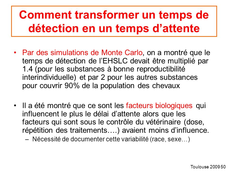 Comment transformer un temps de détection en un temps d'attente
