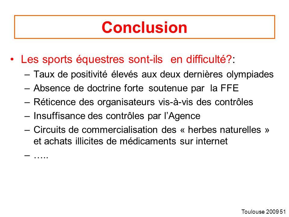 Conclusion Merci Les sports équestres sont-ils en difficulté :