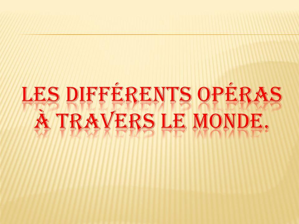 Les différents Opéras à travers le monde.