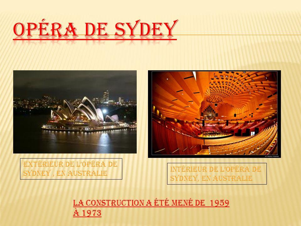 Opéra de Sydey La construction a été mené de 1959 à 1973