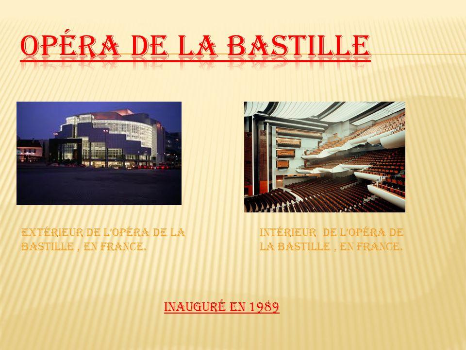 Opéra de la Bastille Extérieur de L'opéra de la Bastille , en France.