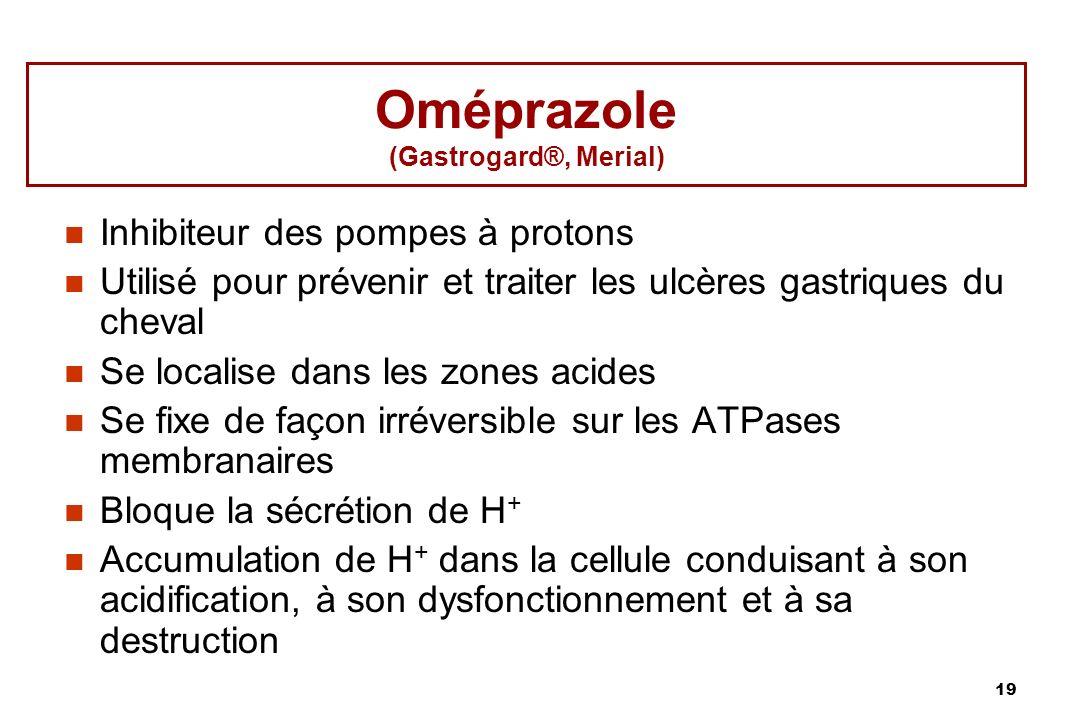 Oméprazole (Gastrogard®, Merial)