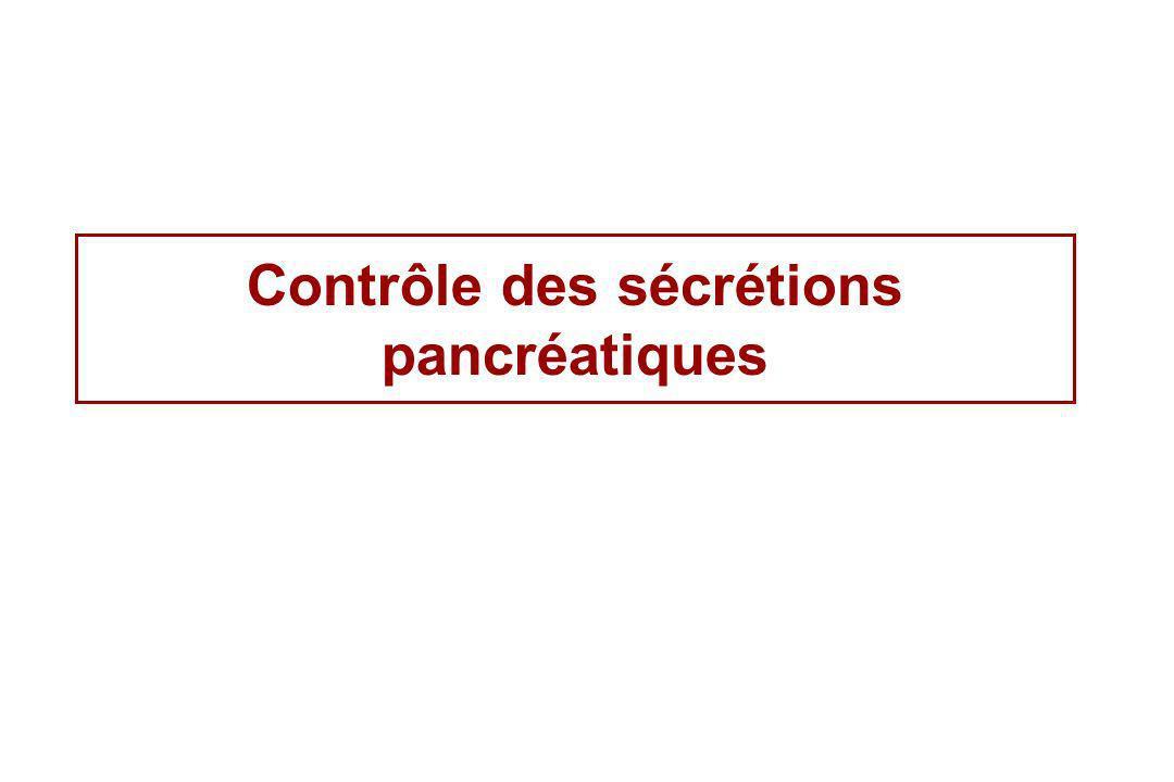 Contrôle des sécrétions pancréatiques