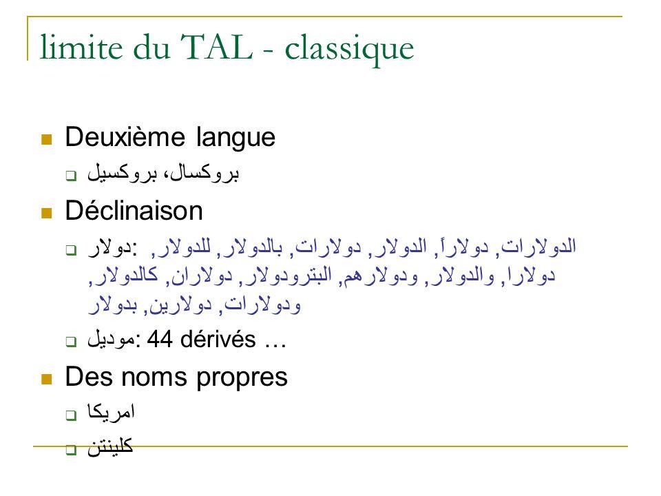 limite du TAL - classique