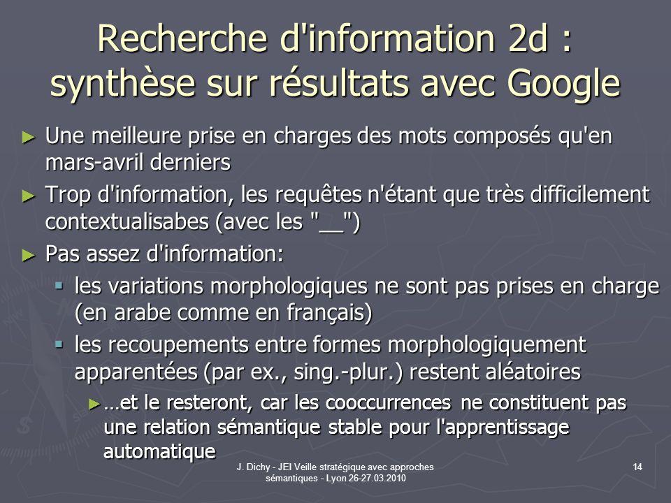Recherche d information 2d : synthèse sur résultats avec Google