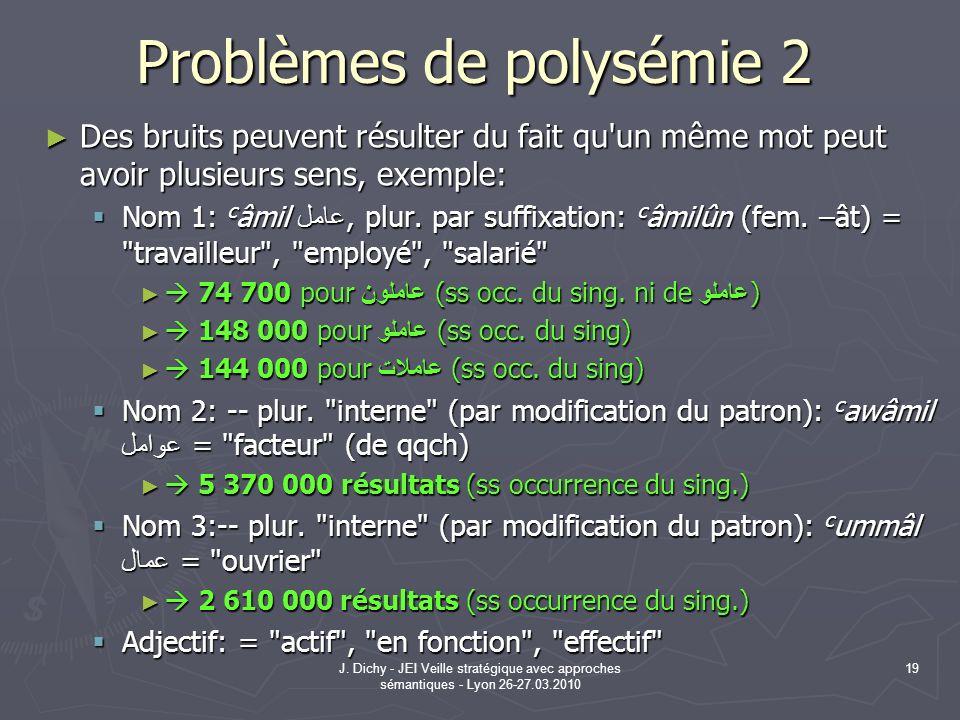 Problèmes de polysémie 2