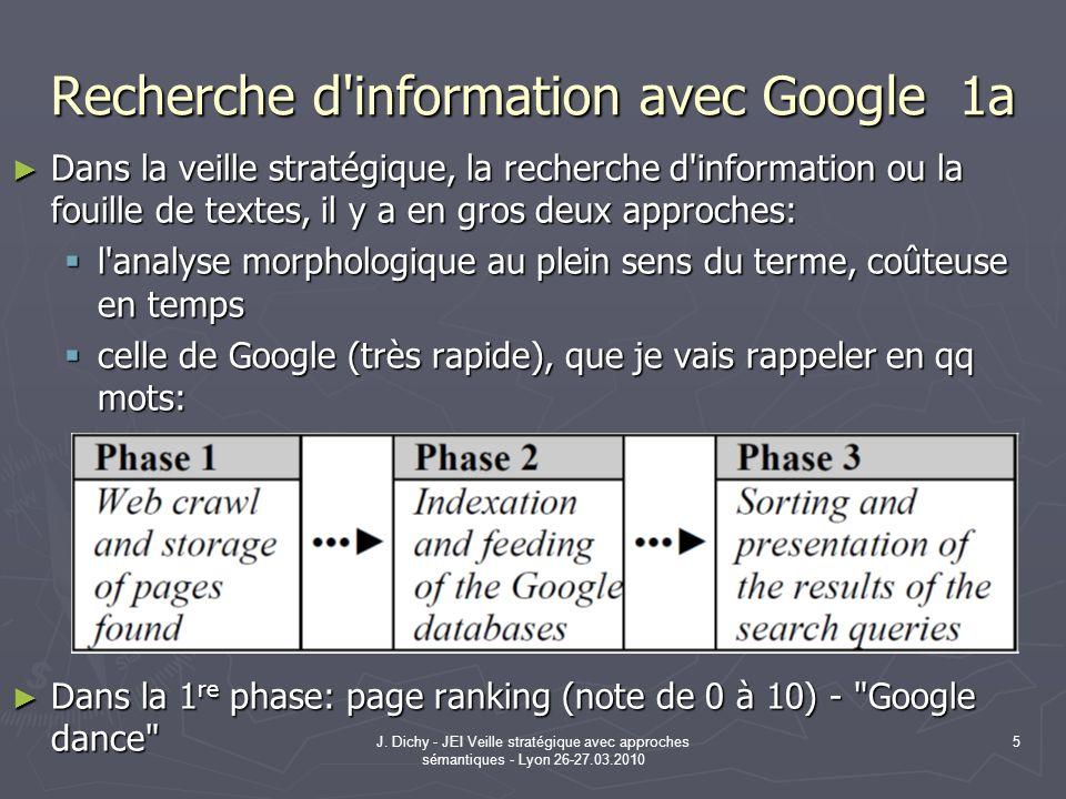 Recherche d information avec Google 1a