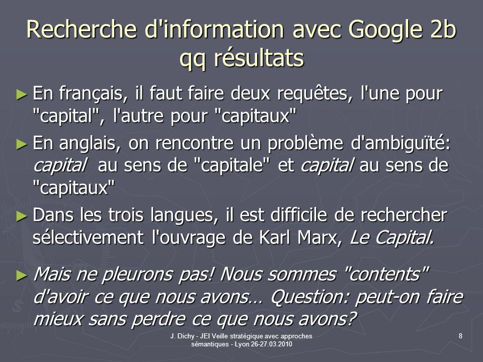 Recherche d information avec Google 2b qq résultats