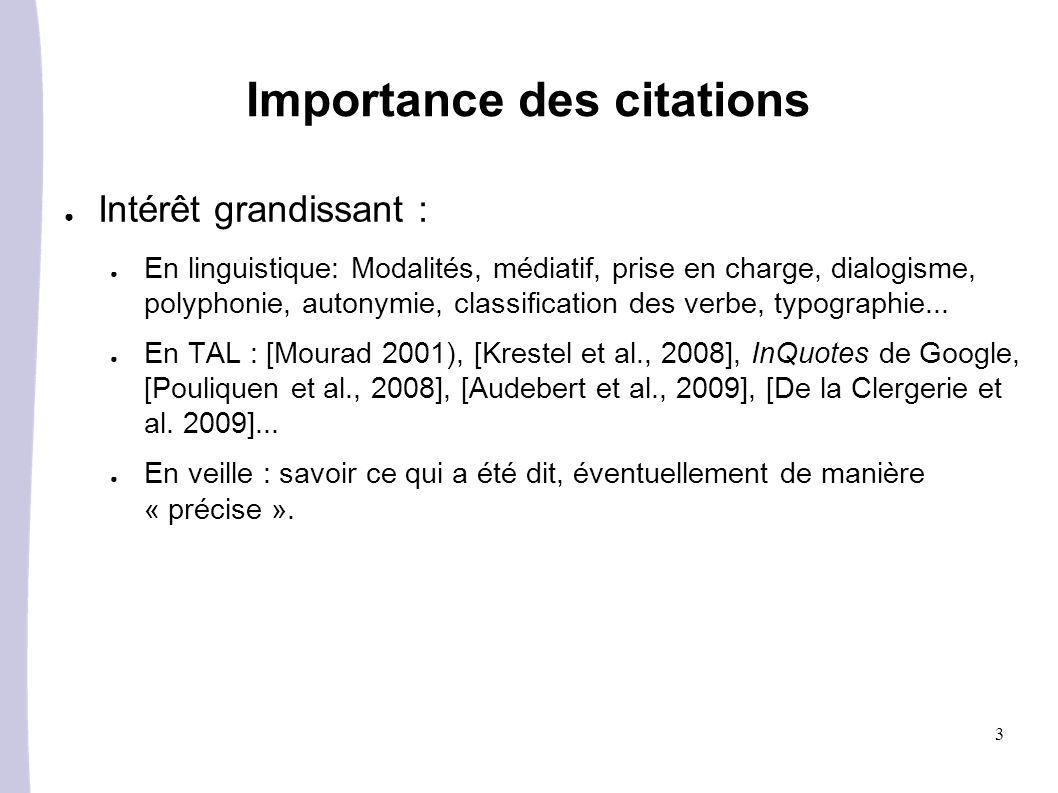 Importance des citations