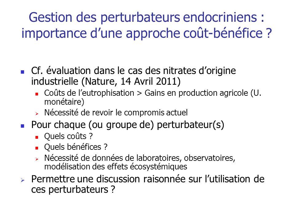 Gestion des perturbateurs endocriniens : importance d'une approche coût-bénéfice