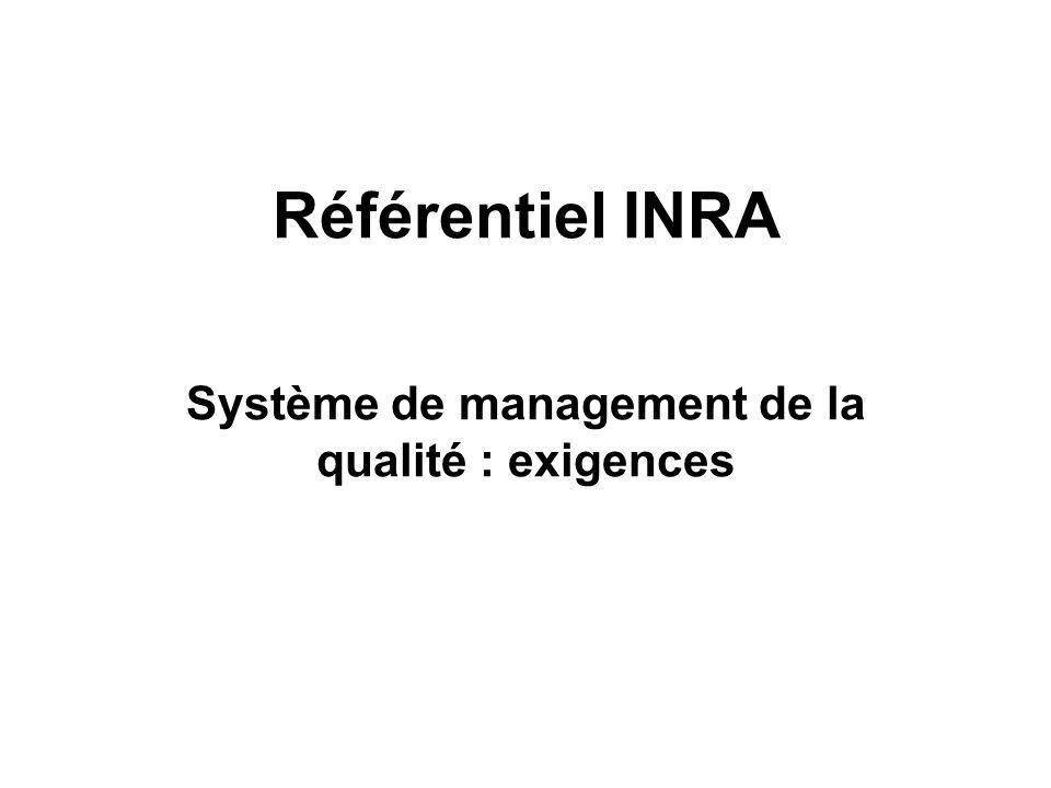 Système de management de la qualité : exigences