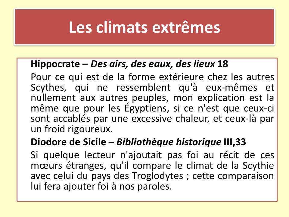 Les climats extrêmes