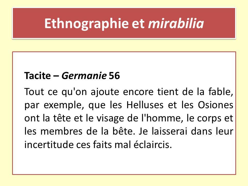 Ethnographie et mirabilia