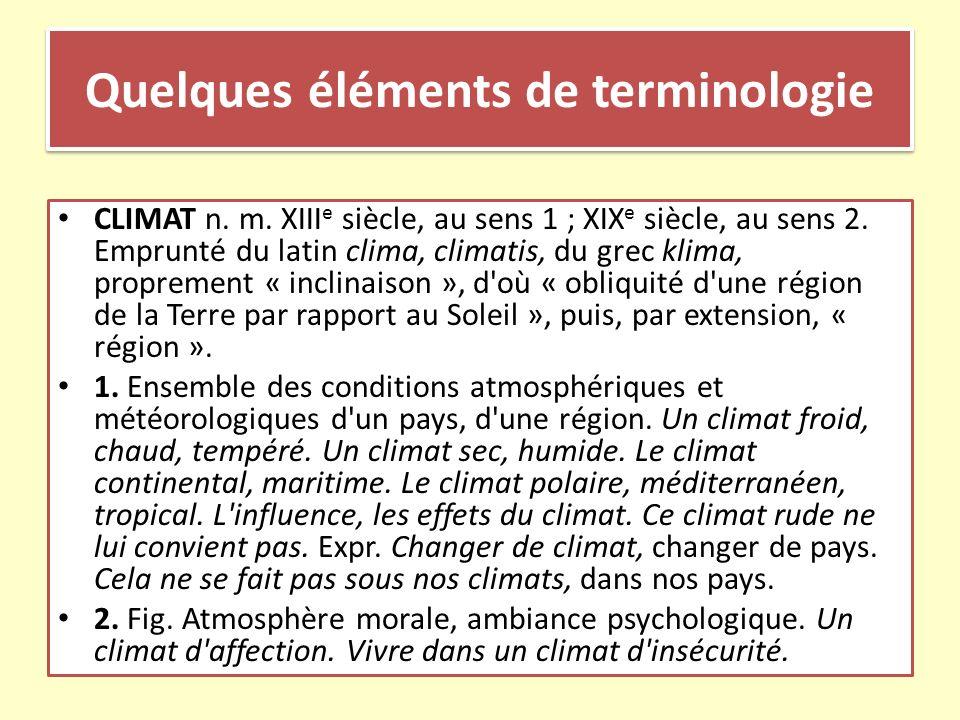 Quelques éléments de terminologie