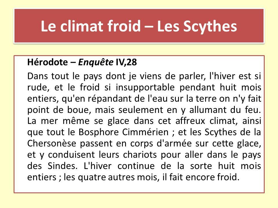 Le climat froid – Les Scythes