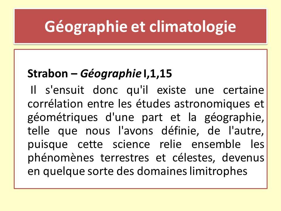 Géographie et climatologie
