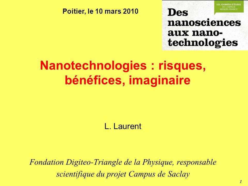 Nanotechnologies : risques, bénéfices, imaginaire