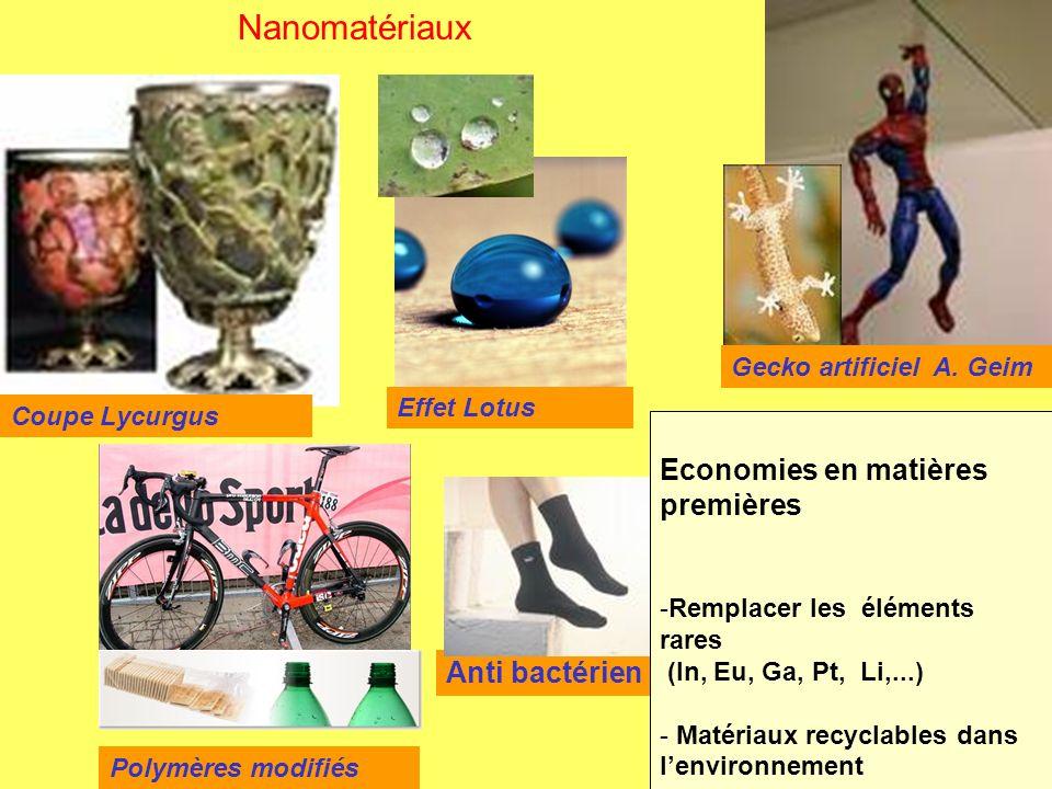 Nanomatériaux Economies en matières premières Anti bactérien