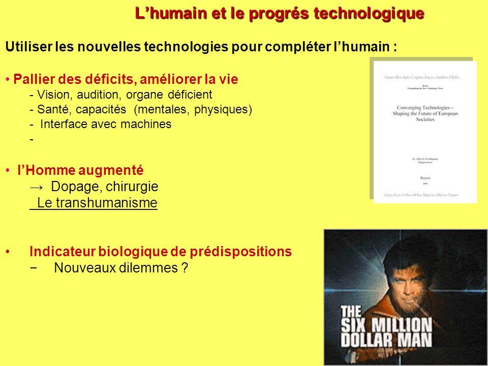 L'humain et le progrés technologique