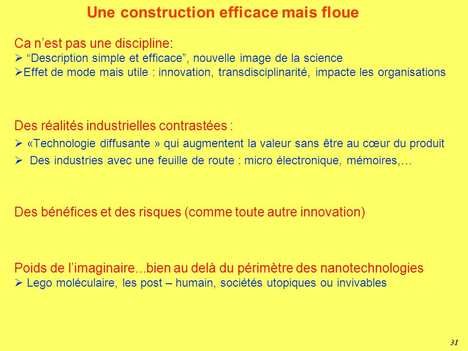 Une construction efficace mais floue