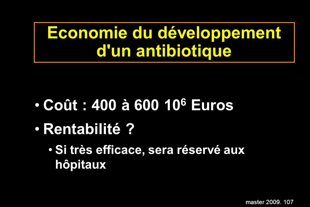 Economie du développement d un antibiotique