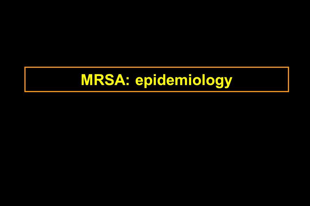 MRSA: epidemiology