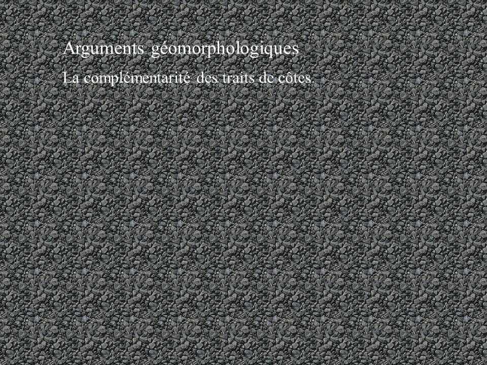 Arguments géomorphologiques