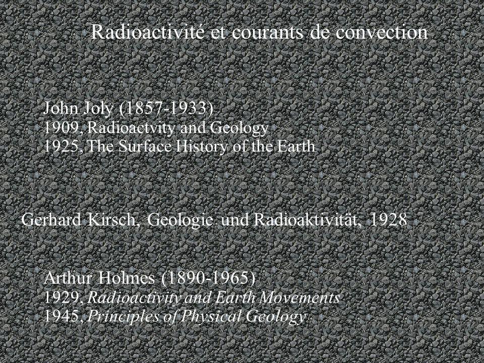 Radioactivité et courants de convection