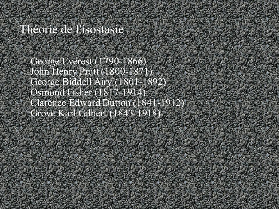 Théorie de l isostasie George Everest (1790-1866)