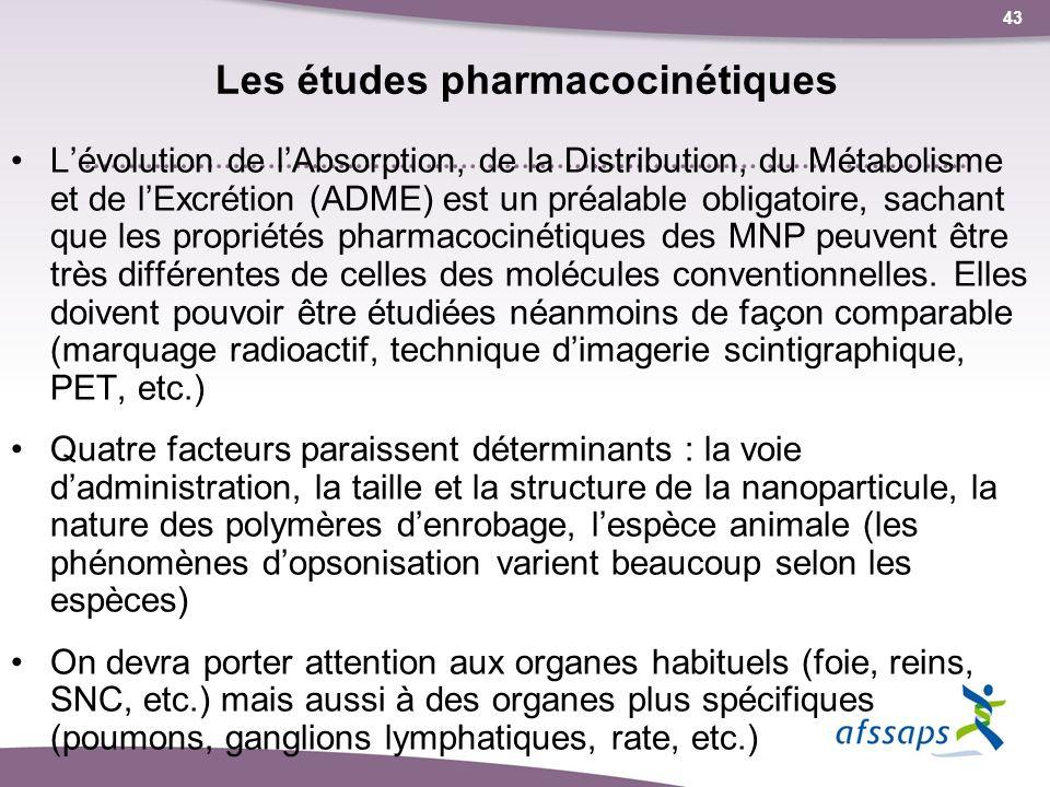 Les études pharmacocinétiques