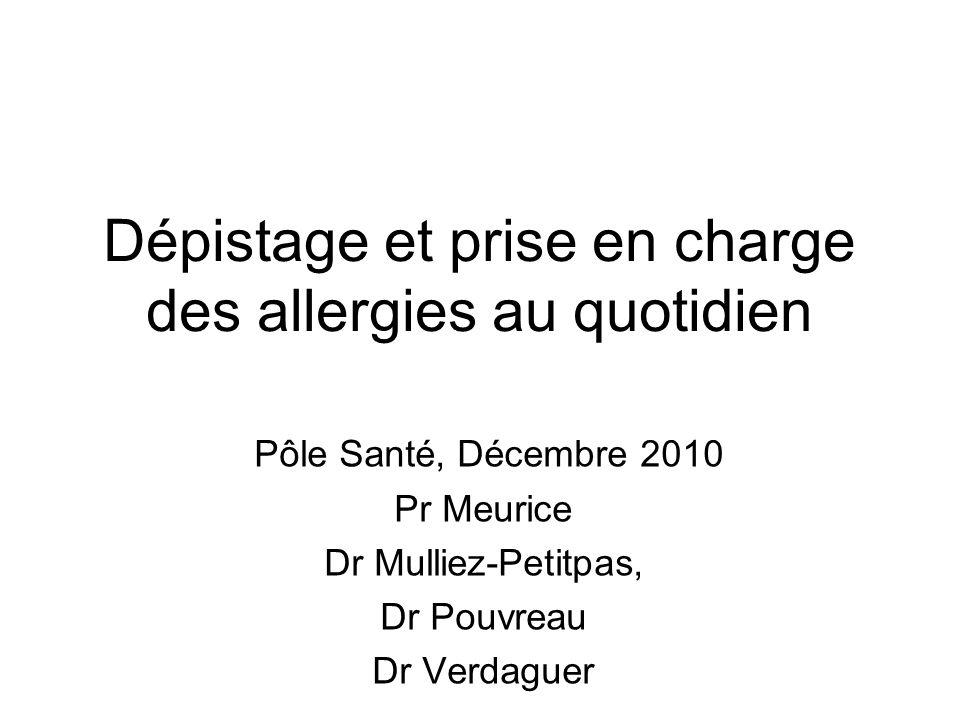 Dépistage et prise en charge des allergies au quotidien