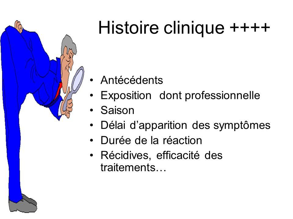 Histoire clinique ++++