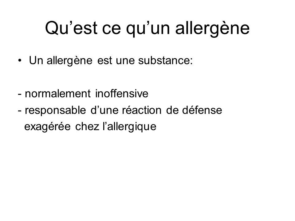 Qu'est ce qu'un allergène