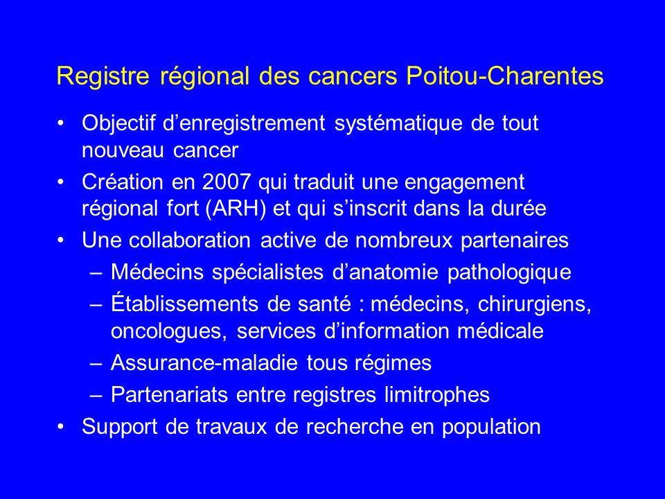 Registre régional des cancers Poitou-Charentes