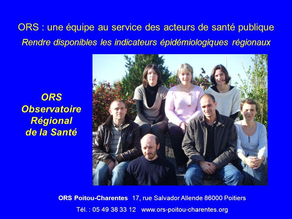 ORS Observatoire Régional de la Santé