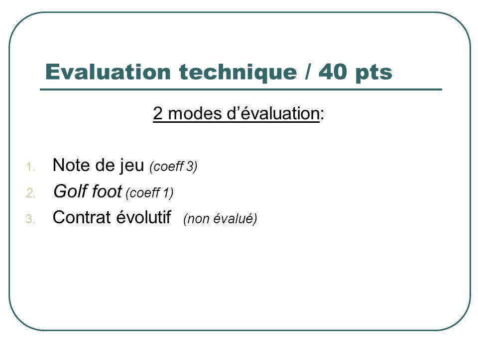 Evaluation technique / 40 pts