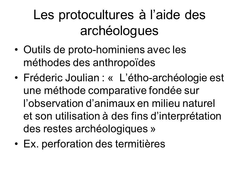 Les protocultures à l'aide des archéologues