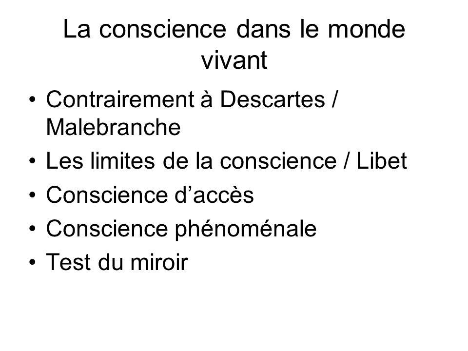 La conscience dans le monde vivant