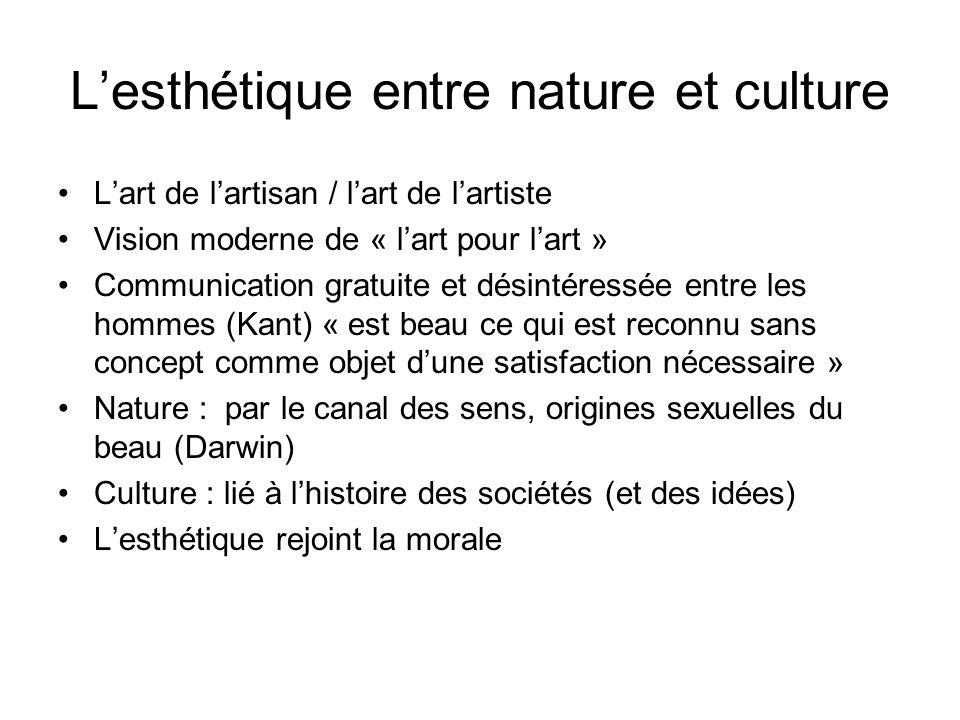 L'esthétique entre nature et culture
