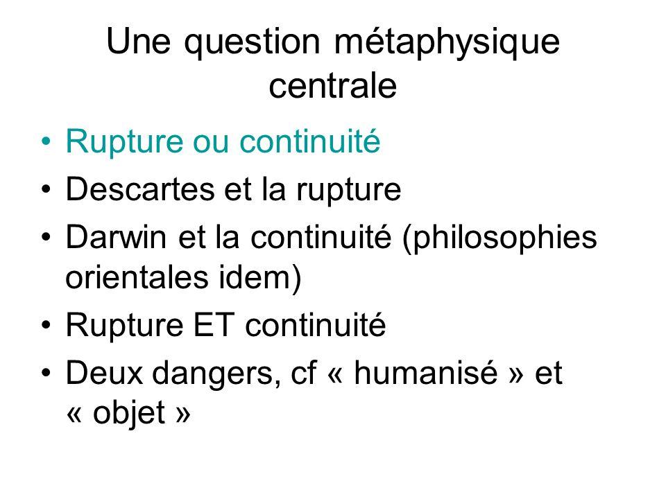 Une question métaphysique centrale