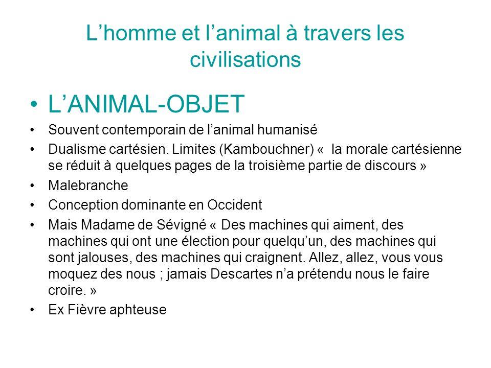 L'homme et l'animal à travers les civilisations