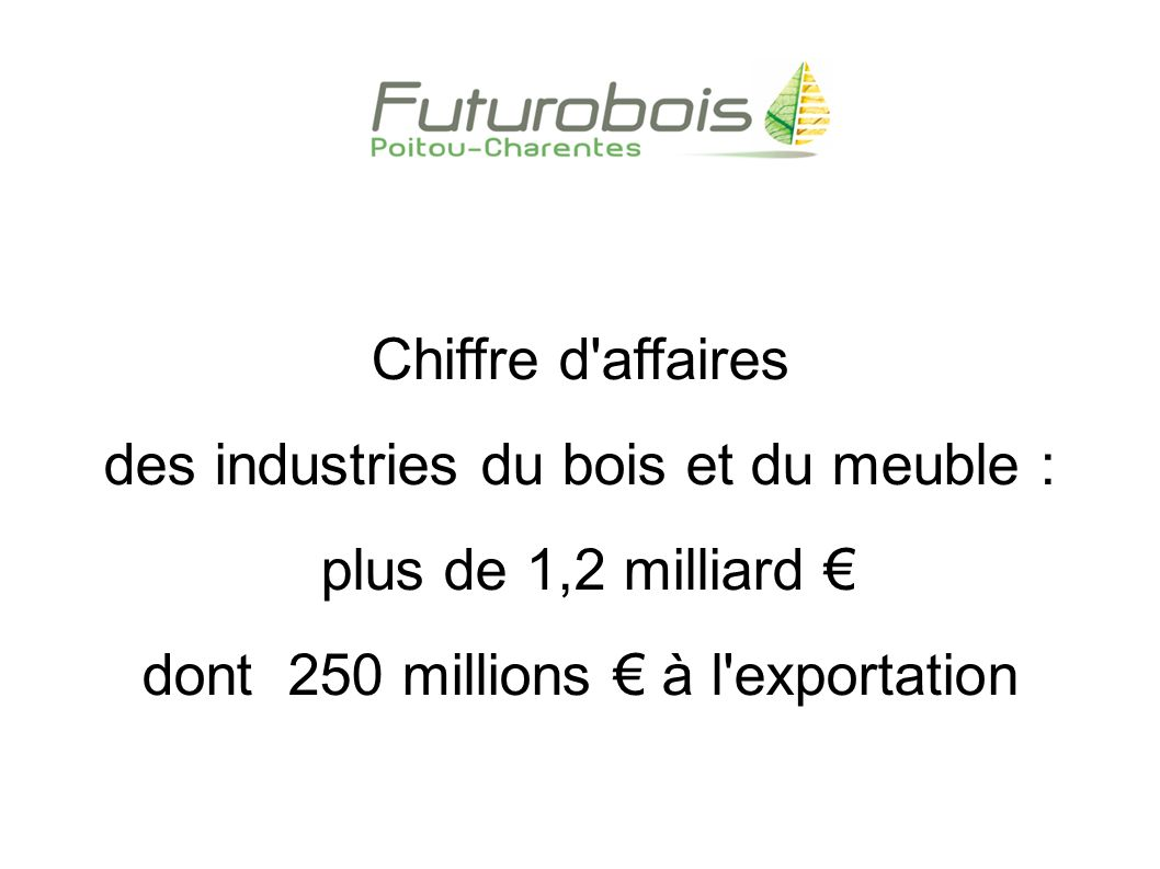 La fili re bois en poitou charentes ppt t l charger for Industrie du meuble en france
