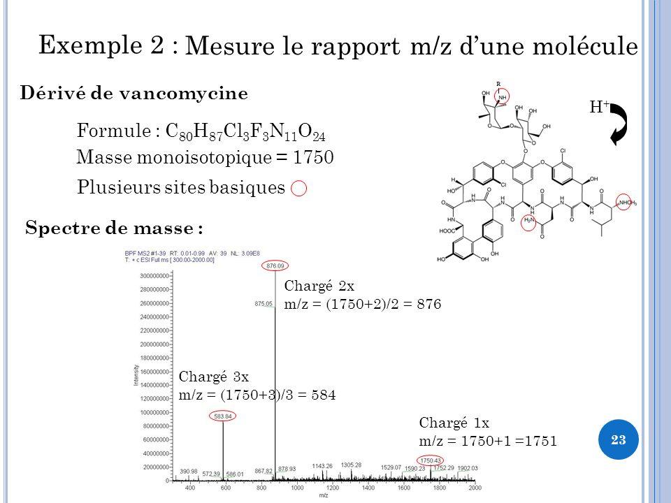 Mesure le rapport m/z d'une molécule