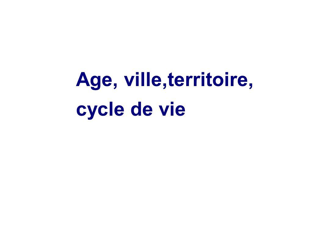 Age, ville,territoire, cycle de vie