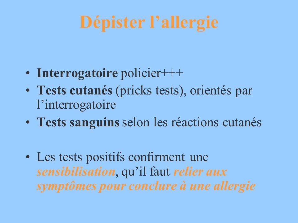 Dépister l'allergie Interrogatoire policier+++