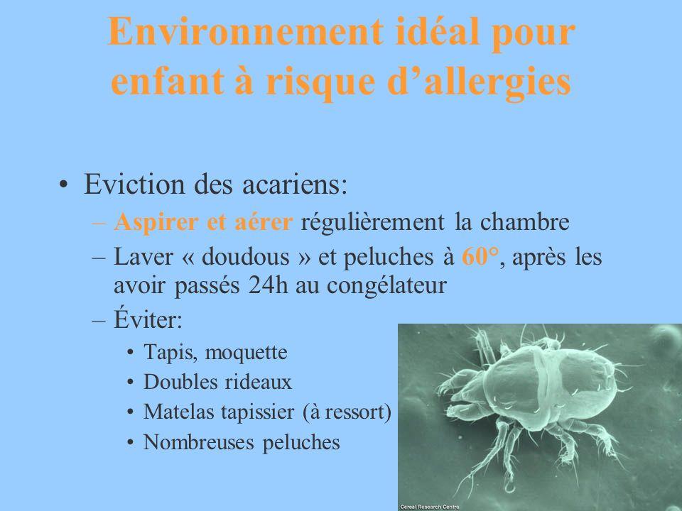 Environnement idéal pour enfant à risque d'allergies