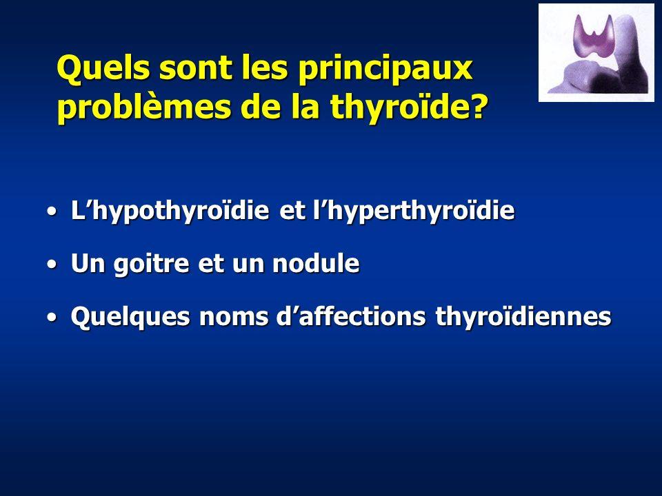 Quels sont les principaux problèmes de la thyroïde