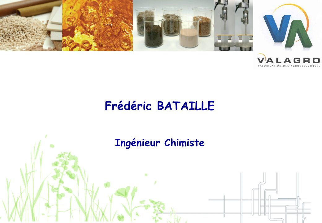 Frédéric BATAILLE Ingénieur Chimiste