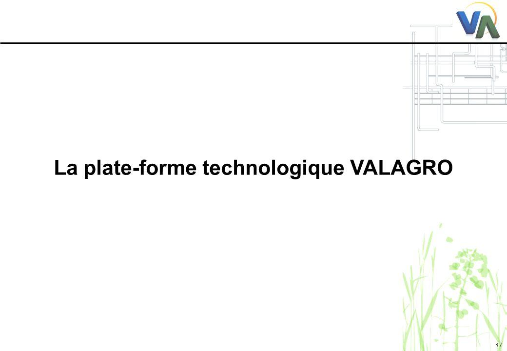 La plate-forme technologique VALAGRO